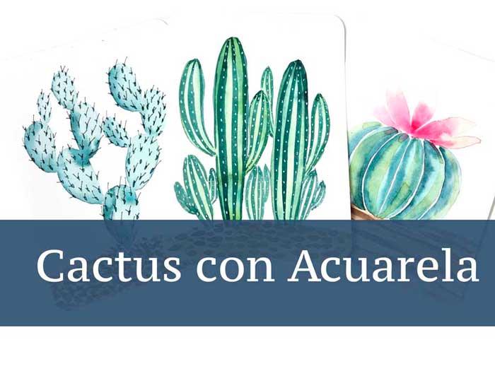 Pintar cactus con acuarelas