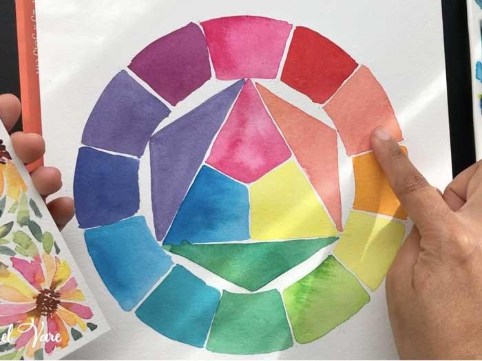 teoría del color para combinar colores con acuarelas