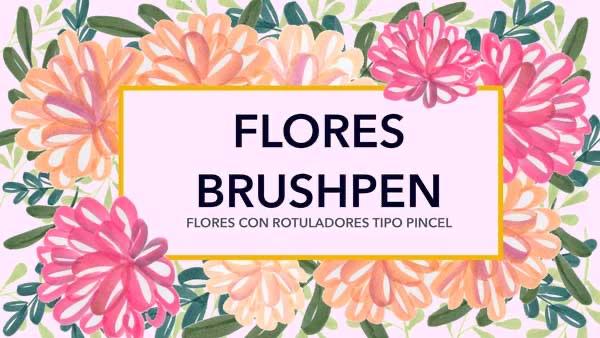 Flores con rotuladores