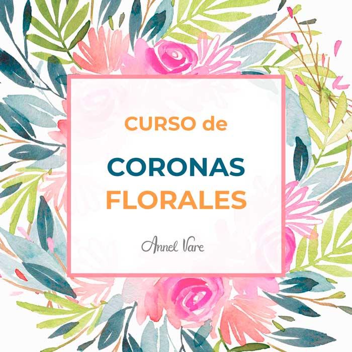 Curso de coronas florales con acuarelas Annel Vare